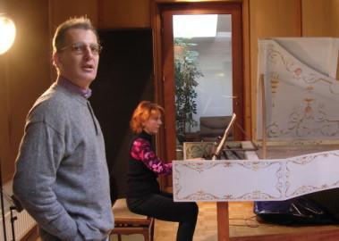 enregistrement de la musique du film ``Les Trois font la paire`` au studio de Jarek Frankowski
