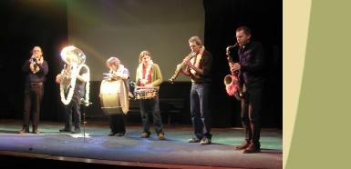 La mini-fanfare Cramique en concert